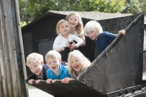 Children having fun at Wheal Martyn