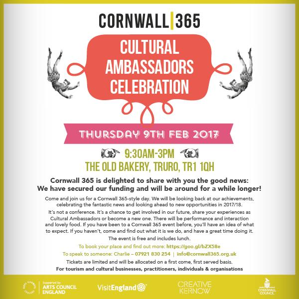 Cultural Ambassadors Celebration invitation