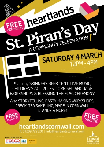 Cornwall 365 St Piran's Day 2017 Heartlands