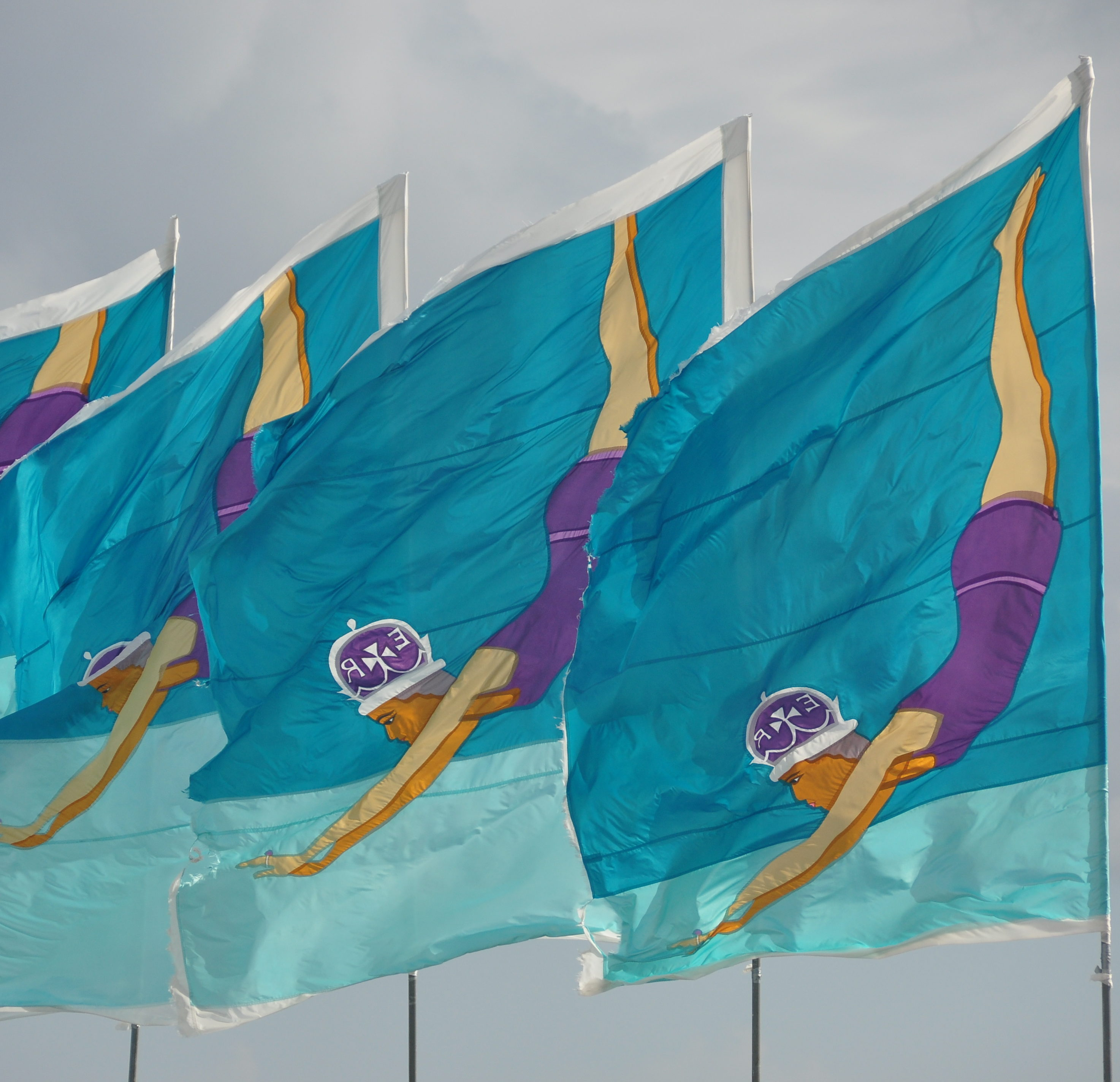 Flags at Jubilee Pool Penzance