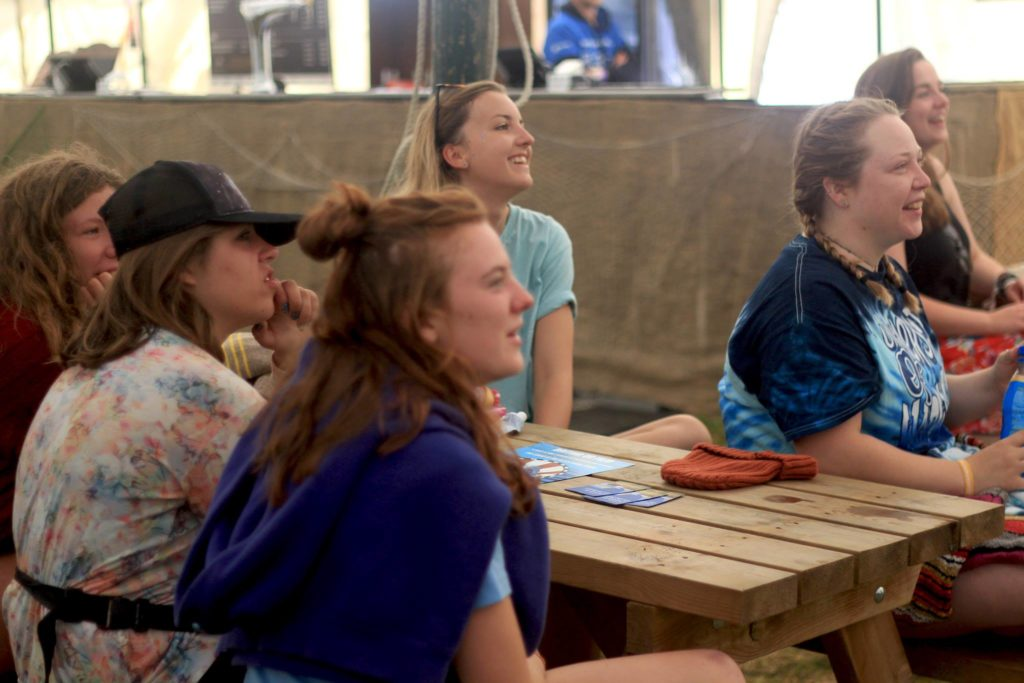 #SpeakCornish audience table Boardmasters