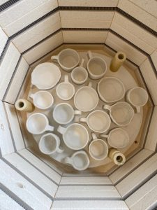 Bird's eye view of a collection of ceramic cups
